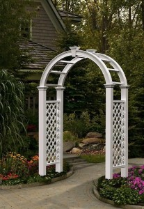 garden arch trellis for backyard