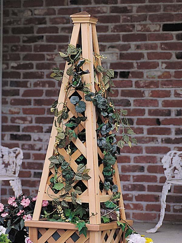 Wooden Garden Pyramid Trellis